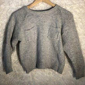 Vintage Cropped  3/4 sleeve Babydoll Sweater